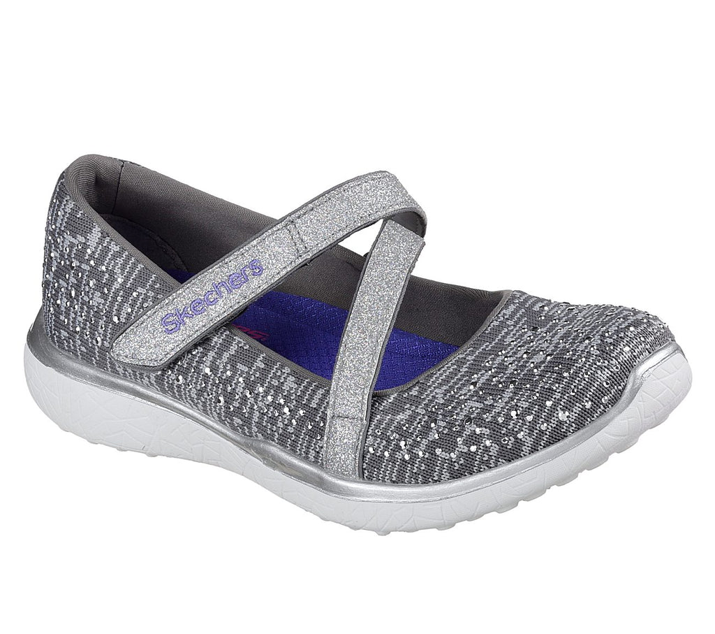 Skechers Microburst Girls Lifestyle Shoe - 85709L-GRY