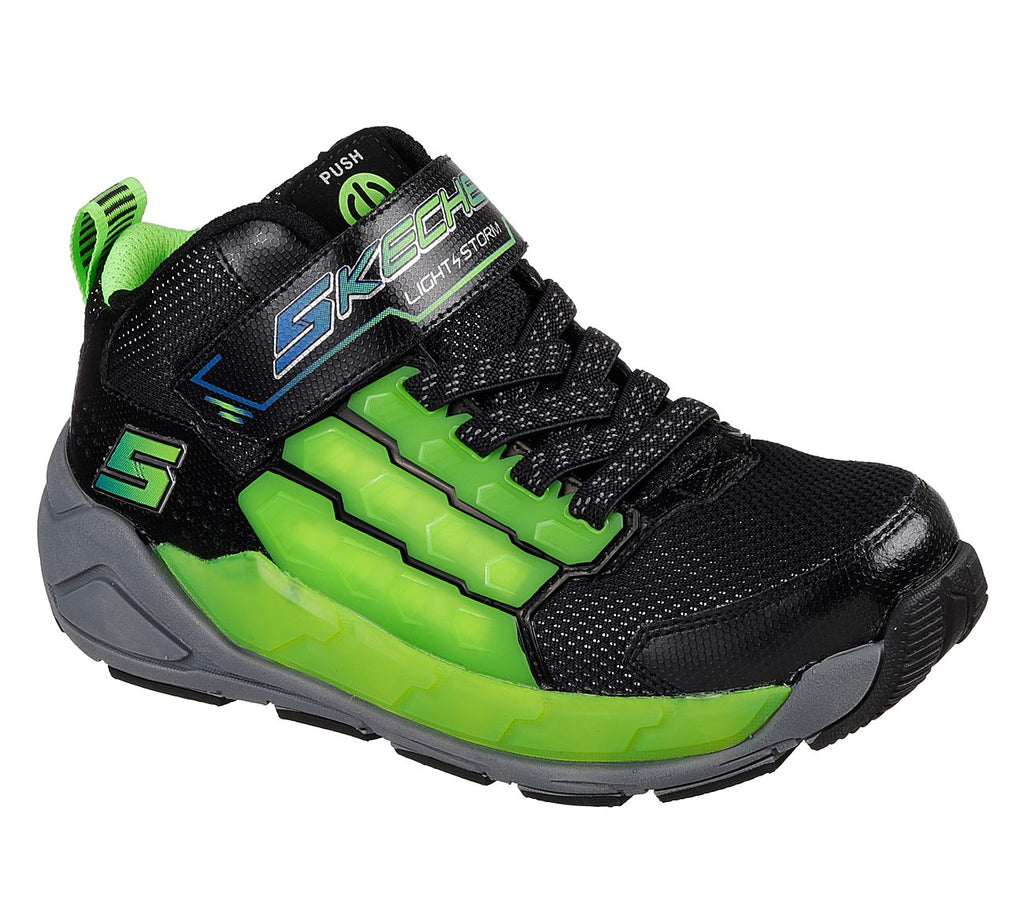 Skechers Light Storm Boys Lifestyle Shoe - 90710L-BKLM