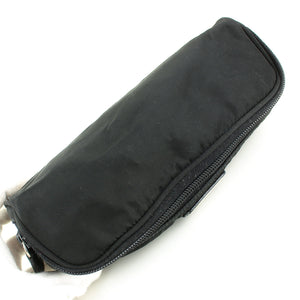 PRADA Nylon Canvas Cosmetic Pouch Case Make-up Purse Black