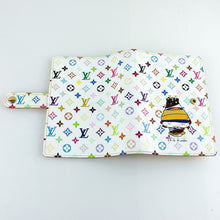 Load image into Gallery viewer, LOUIS VUITTON AGENDA PM Notebook Day Planner Cover Monogram Multicolor Chibi Kinoko R20957 Blanc Murakami with Box