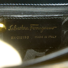 Load image into Gallery viewer, SALVATORE FERRAGAMO Gancini Leather Hand Bag Black with Shoulder Strap BX-212193