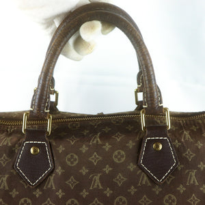 LOUIS VUITTON SPEEDY 30 Hand Bag Doctor Purse Monogram Mini Lin M95224 Ebene
