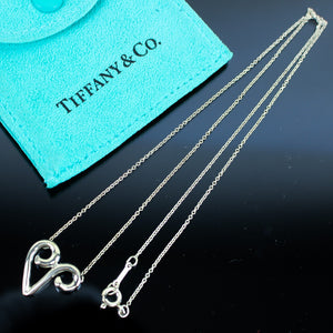 TIFFANY & CO. Paloma Picasso Chain Necklace Pendant Sterling Silver 925