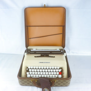 GUCCI x OLIVETTI Typewriter Lettera 35 Vintage 60's Travel Carrying Case