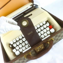 Load image into Gallery viewer, GUCCI x OLIVETTI Typewriter Lettera 35 Vintage 60's Travel Carrying Case