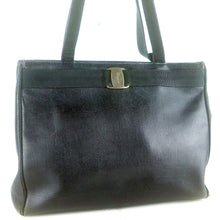 Load image into Gallery viewer, SALVATORE FERRAGAMO VARA Leather Tote Bag Shoulder Purse AN-21 2530 Black