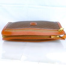 Load image into Gallery viewer, CELINE Macadam PVC Canvas Clutch Bag Purse Brown