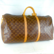 Load image into Gallery viewer, LOUIS VUITTON KEEPALL 60 Bandouliere Boston Travel Bag Purse Monogram M41412 Brown