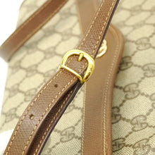 Load image into Gallery viewer, GUCCI GG Pattern PVC Canvas Crossbody Shoulder Bag Purse Brown Beige JUNK