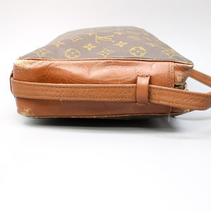 LOUIS VUITTON SAC BANDOULIERE 35 Crossbody Shoulder Bag Purse Monogram No.182 Brown