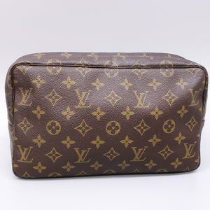 LOUIS VUITTON TROUSSE TOILETTE 28 Cosmetic Pouch Purse Monogram M47522 Brown
