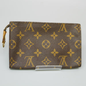 LOUIS VUITTON Mini Pouch for BUCKET PM Purse Monogram Brown JUNK