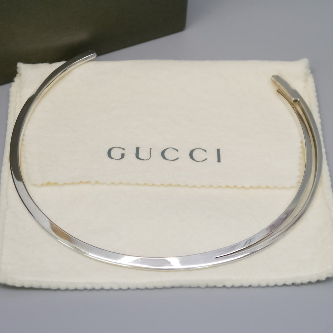 GUCCI Necklace Choker Sterling Silver SV925 33cm 12inches Made in Italy