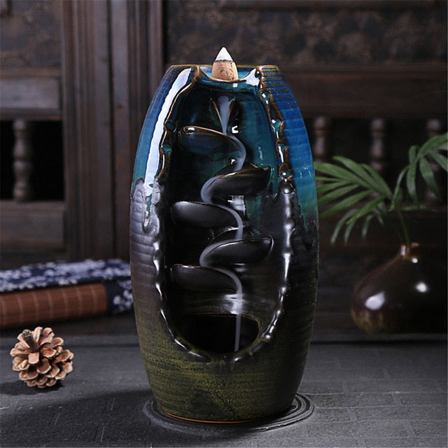 Amber Incense™ Ceramic Waterfall Incense Holder