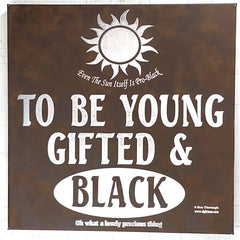 To Be Young Gifted & Black - Leather Art