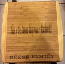 Load image into Gallery viewer, Bamboo cutting board - Bible verse