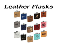 Load image into Gallery viewer, Flasks - Leather and Metal