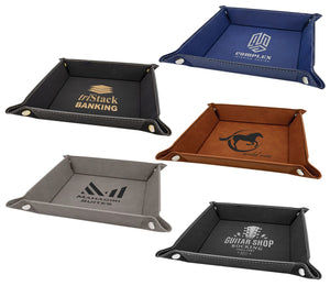 Leather Folding Trays