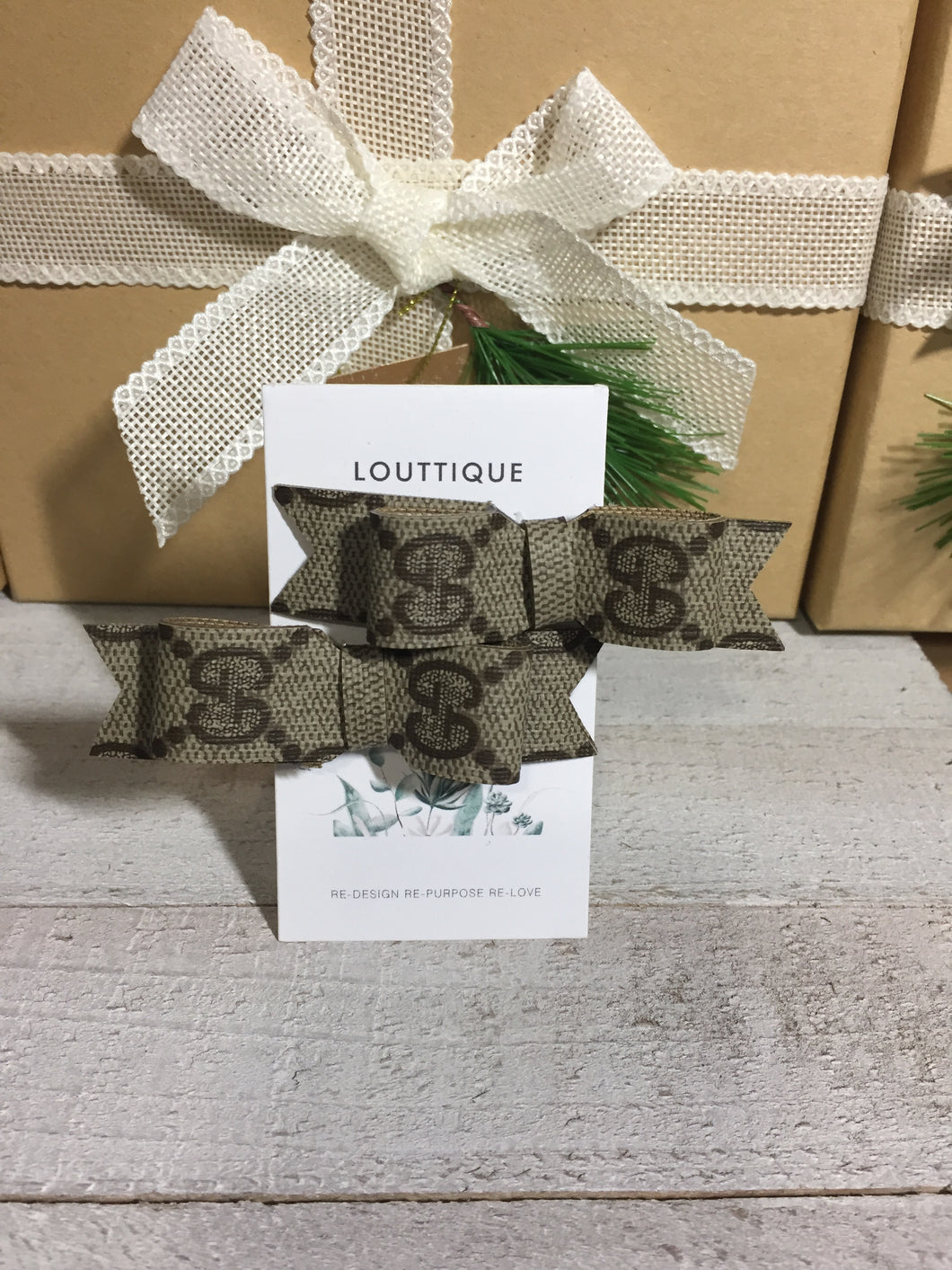 GUCCI Upcycled Hair Bows/Clips