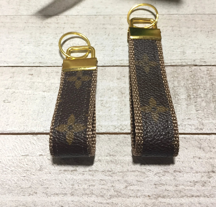 The LV Fleur Upcycled Key Ring