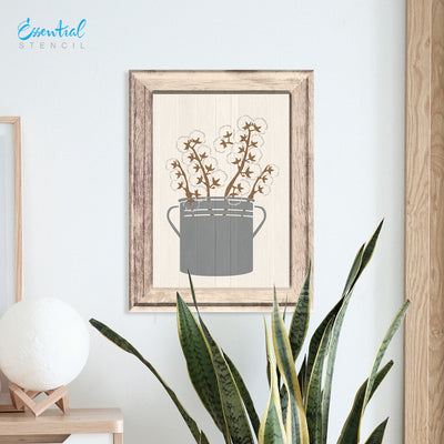 SOTMC - May 2020: Decor Vase, bucket, lavender and cotton stems Stencil Set by Sarah Brackenridge