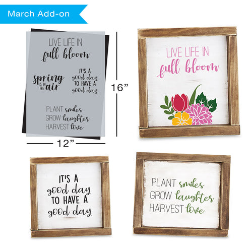 SOTMC - March 2020: Spring Quotes Stencil (add-on)