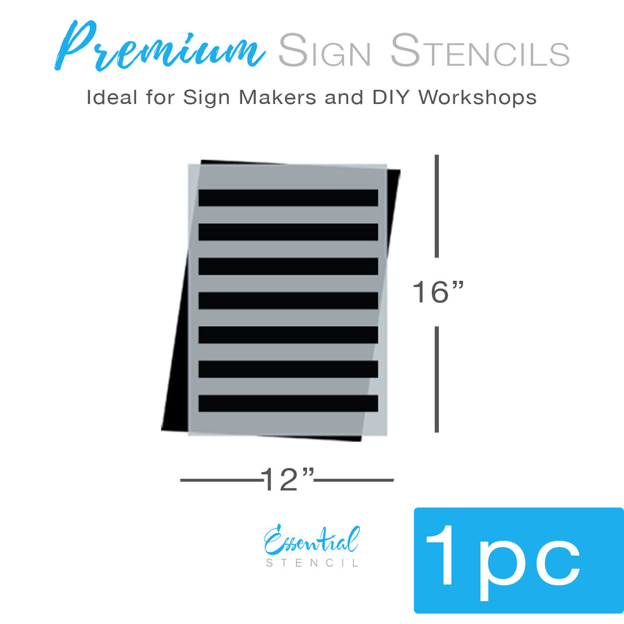 Large Stripe Stencil Pattern (Club Exclusive)