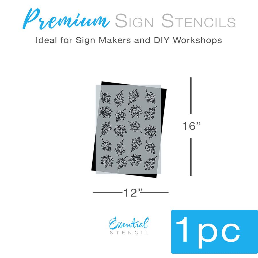 Fall Leaves Stencil Pattern (Club Exclusive)