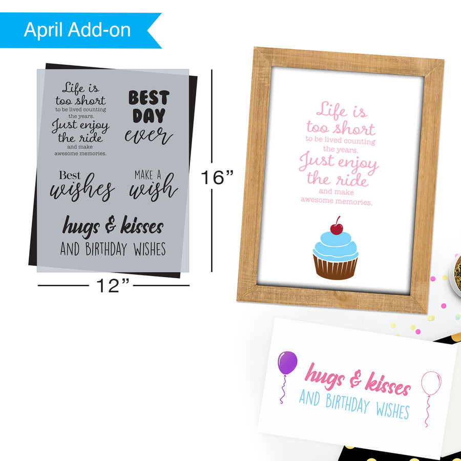 SOTMC - April 2021: Best Day Ever, Birthday Stencil by Melissa Miller (add-on)