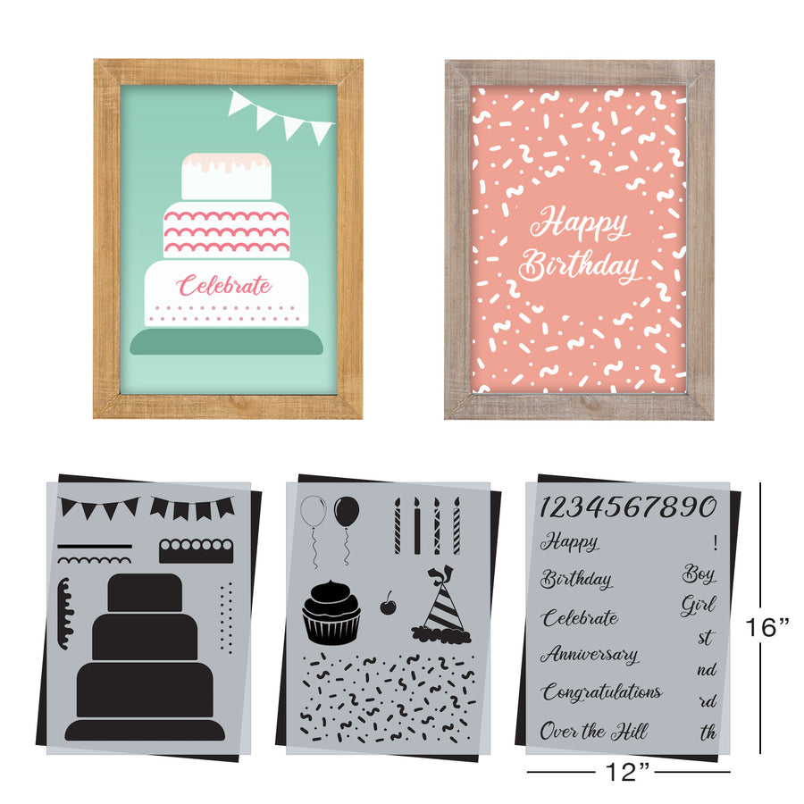 SOTMC - April 2021: The Celebration Stencil Set by Melissa Miller