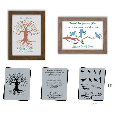 SOTMC - August 2020: Roots & Wings Stencil Set by Amanda Dillon