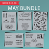 May Stencil Bundle - Laundry, Cat, Family, Home and Leaf Pattern Stencil