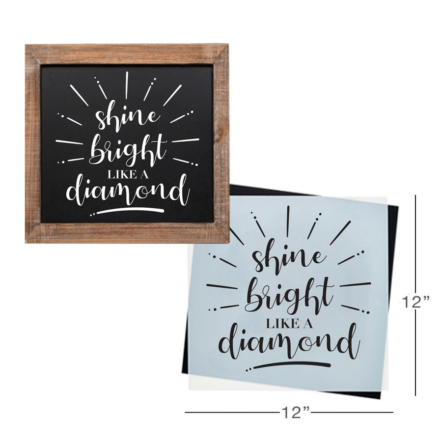 SOTMC - December 2019: Shine Bright Like a Diamond Stencil by Grace Kurtz (add-on)