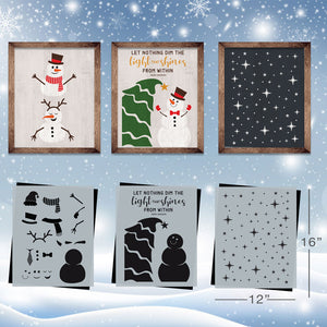 SOTMC - December 2019: Build a Snowman Stencil Set by Grace Kurtz