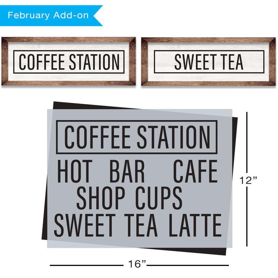 SOTMC - February 2020: Coffee Station Stencil by Sharon Hankins (add-on)