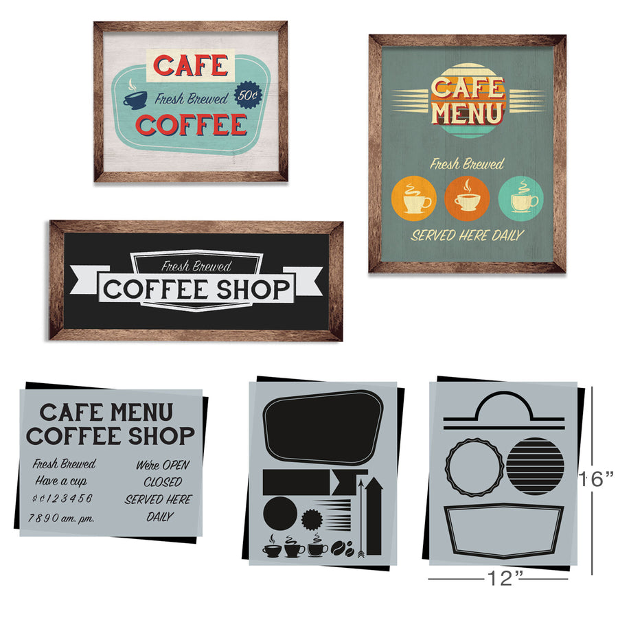 SOTMC - February 2020: Retro Coffee Stencil Set by Sharon Hankins