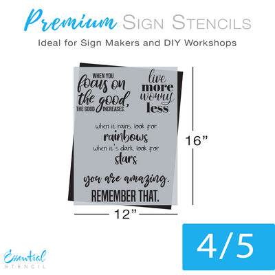 August Stencil Bundle - 3 Patterns + 2 Quote Sheets