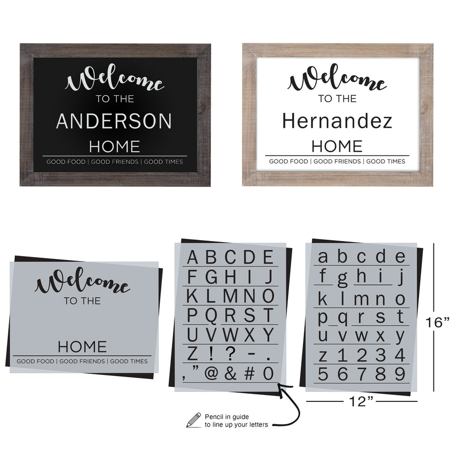 SOTMC - January 2021: Welcome + Letter Stencil Set