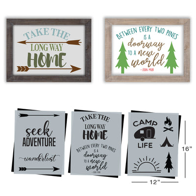 SOTMC - July 2020: Adventure & Camping Stencil Set by Heidi Easley