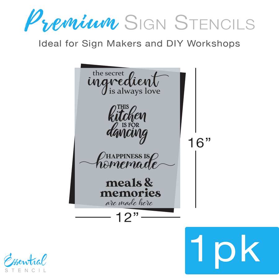 Kitchen Quotes Sign Stencil (Club Exclusive)