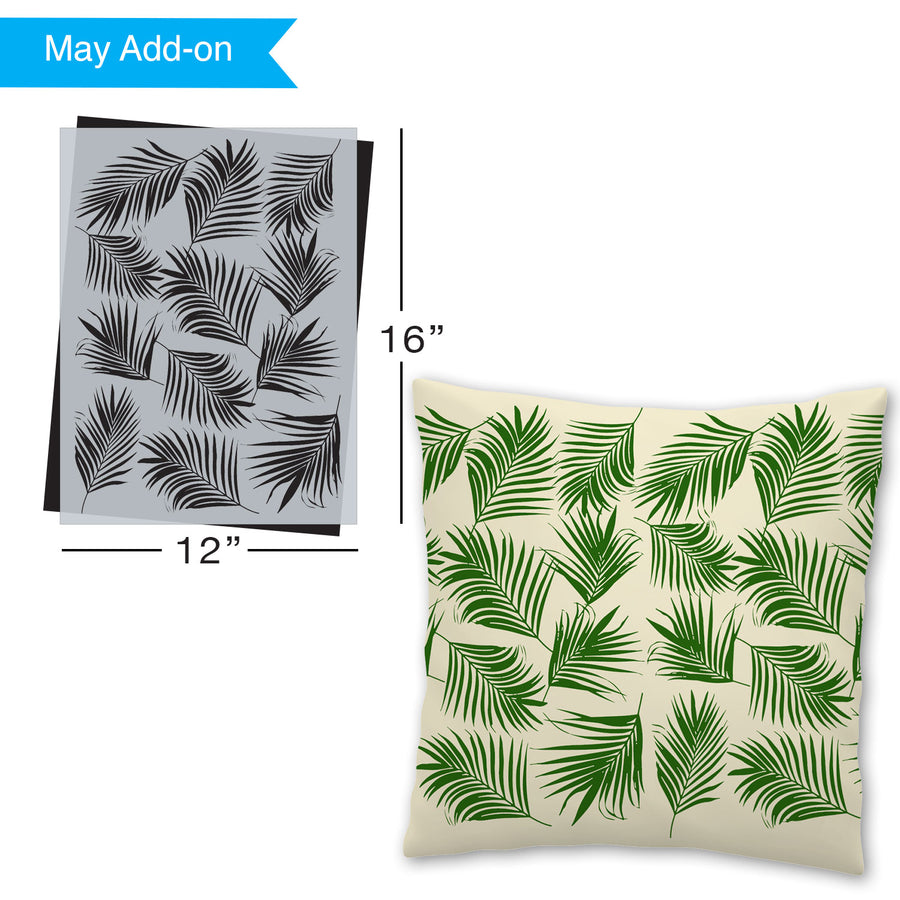 SOTMC - May 2021: Palm leaves pattern stencil (add-on)