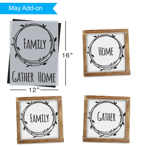 SOTMC - May 2020: Home, Gather, Family Wreath Stencil by Sarah Brackenridge (add-on)
