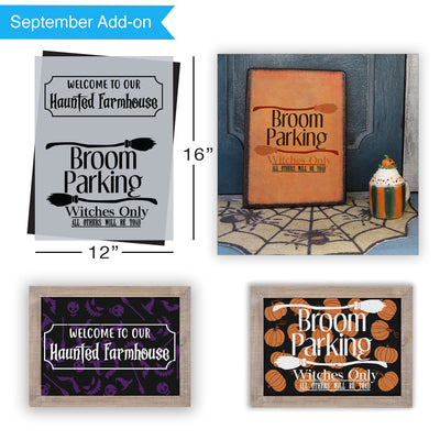 SOTMC - September 2020: Welcome to our Haunted Farmhouse Stencil (add-on)