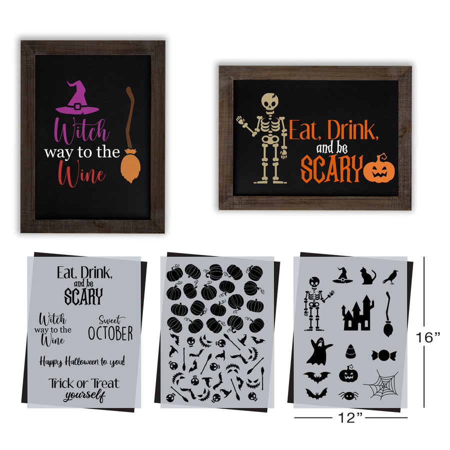SOTMC - September 2020: Happy Halloween Stencil Set