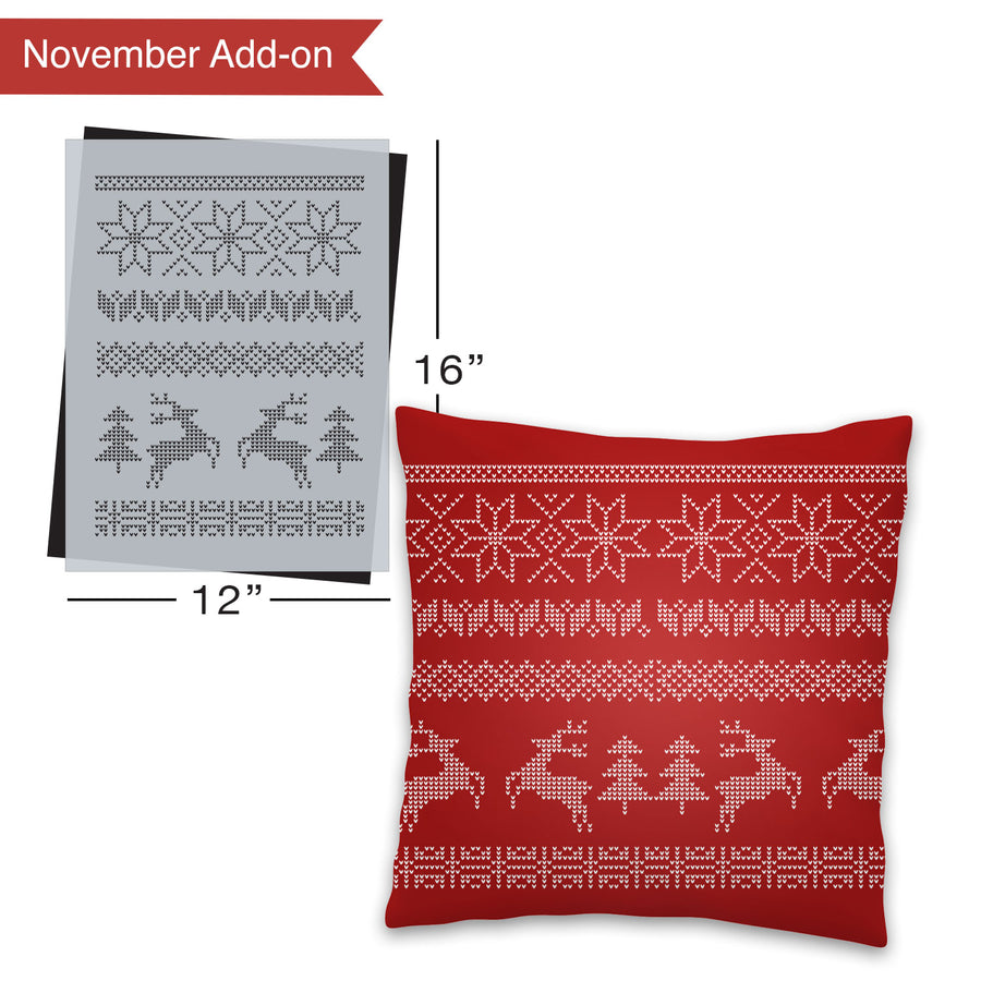 SOTMC - November 2020: Christmas Pattern Stencil (add-on)