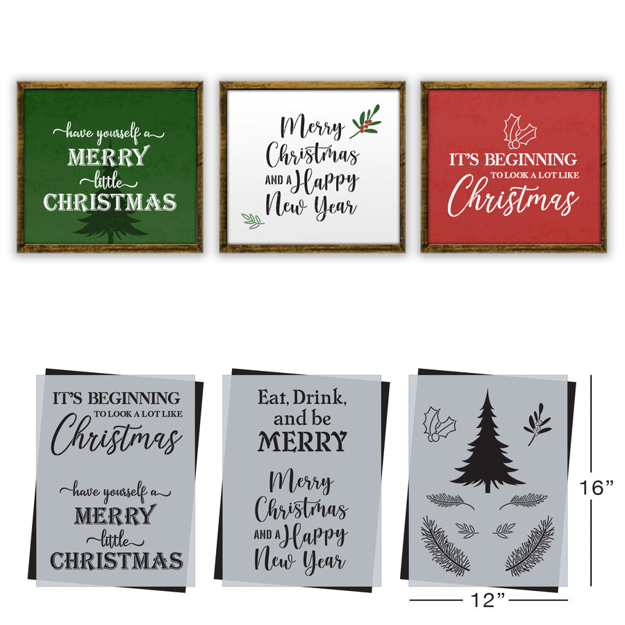 SOTMC - November 2020: Merry Little Christmas Stencil Set