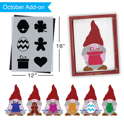 SOTMC - October 2020: Seasonal Items for Gnome Stencil by Carol Czerwinski (add-on)
