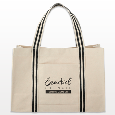 Club Stencil Tote - 100% Canvas