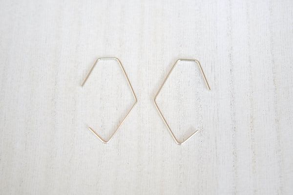 Morro Asymmetrical Geometric Threader Hoops