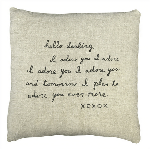 I Adore You Pillow